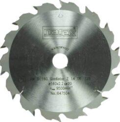 NAREX 00647504 Kotouč pilový HW 160x2,5x20 14TR Gladiator-Pilový kotouč GLADIATOR