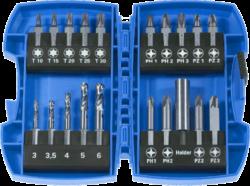 NAREX 00778000 Sada bitů 20dílná METAL COMBI-METAL Combi Šroubovací dříky s vrtáky do kovu 20x