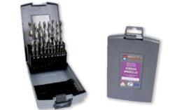 NAREX 00763358 Sada vrtáků do kovu vybrušovaných 19dílná-PVC pouzdro s vrtáky CZ002, 19dílů  1, 1.5, 2, 2.5, 3, 3.5, 4, 4.5, 5, 5.5, 6, 6.5, 7, 7.5, 8, 8.5, 9, 9.5, 10mm