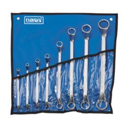 NAREX 443000589 Sada klíčů 8dílná očkových 838.608-8dílná sada klíčů ve vinylovém pouzdře DIN838