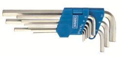 NAREX 443000860 Sada klíčů 9dílná imbus 710.609P Crv-9dílná sada šestihranných prodloužených úhlových klíčů (IMBUS) 1,5-10mm - zinkovaný DIN710