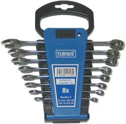 NAREX 443000719 Sada klíčů 8dílná inch očkoplochých plast. držák 3113.608-Sada klíčů 8dílná inch očkoplochých plast. držák 3113.608