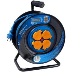 Kabel 50m na cívce 4zásuvky IP44 3x1,5mm guma PBN50 NAREX 65404962