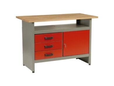 MARS 5804 Stůl pracovní 120/80/60cm 3 zásuvky(7879524)