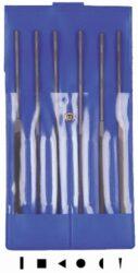 AJAX 286213931620 Sada jehlových pilníků 160/2 6dílná-Sada pilníků jehlových 160mm, 6-dílná, sek 2, ve vinylovém pouzdře