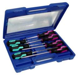 Sada šroubováků PL/PZ S-LINE NAREX 862702-Sada šroubováků 6-dílná, plochý + POZIDRIV v plastovém kufru