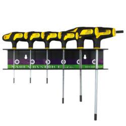 NAREX 851101 Sada šroubováků SW2,3,4,5,6 SW2,5 v závěsu-Sada šroubováků 6-dílná zástrčných šestihranných INBUS 2-6mm, L-klíč, Bi-plast T
