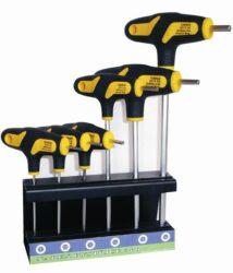 NAREX 851102 Sada šroubováků SW2,3,4,5 SW2,5 ve stojánku-Sada šroubováků 6-dílná zástrčných šestihranných INBUS 2-6mm, L-klíč, Bi-plast T