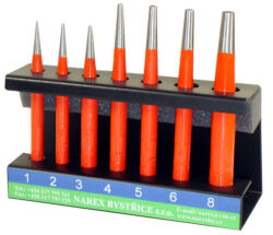 NAREX 854500 Sada průbojníků 7dílná 1-8mm-Sada průbojníků ve stojánku