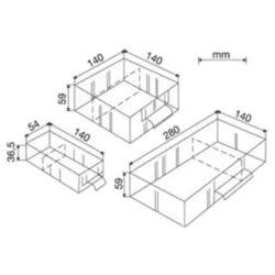 MARS 6232 Zásuvka střední standard-Náhradní šuplík střední do skříněk MARS
