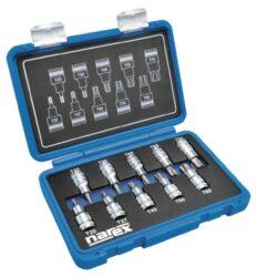 """NAREX 443000961 Sada hlavic 1/2"""" zástrčných TORX TX 20-70 L55mm 10dílná-10dílná sada 1/2 TORX (TX) zástrčných L55mm hlavic v plastovém kufříku."""
