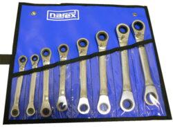 NAREX 443000989 Sada klíčů 8dílná ráčnových oboustranných vinyl DIN3113-8dílná sada ráčnových klíčů oboustranných vinyl DIN3113