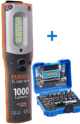 NAREX 65405195 Sada svítilna FL LED 10 M + sada bitů 37-Bit Box                 -Sada svítilna FL LED 10 M + sada bitů 37-Bit Box
