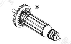 Rotor EBU 115-10 /125-10 NAREX 65404991