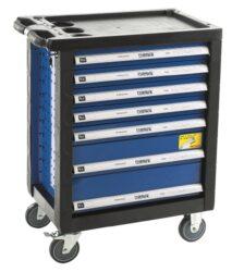 NAREX 443000971 Montážní skříň pojízdná prázdná (7 zásuvek)-Servisní dílenský vozík 7 zásuvek