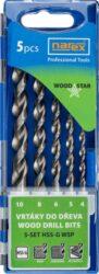NAREX 65405607 Sada vrtáků do dřeva 4-10mm HSS-G (5ks) 5-SET HSS-G WSP-Sada vrtáků do dřeva 4-10mm HSS-G (5ks)