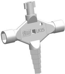 LIDOKOV 01.373 Klíč k rozvaděči kombi kříž LK1.5