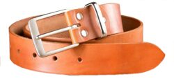 NAREX 443002353 Opasek kožený Classic 110cm hnědý-Hnědý kožený opasek NAREX Classic L110cm s nerezovou sponou