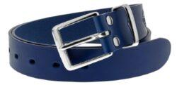 NAREX 443002354 Opasek kožený Classic 120cm modrý-Modrý kožený opasek NAREX Classic L120cm s nerezovou sponou