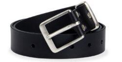 NAREX 443002355 Opasek kožený Classic 120cm černý-Černý kožený opasek NAREX Classic L120cm s nerezovou sponou